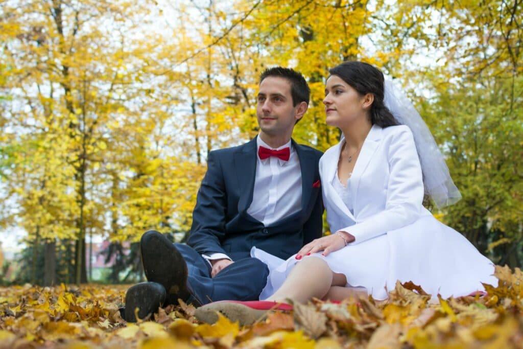 Jesienna sesja ślubna w Parku Południowym we Wrocławiu