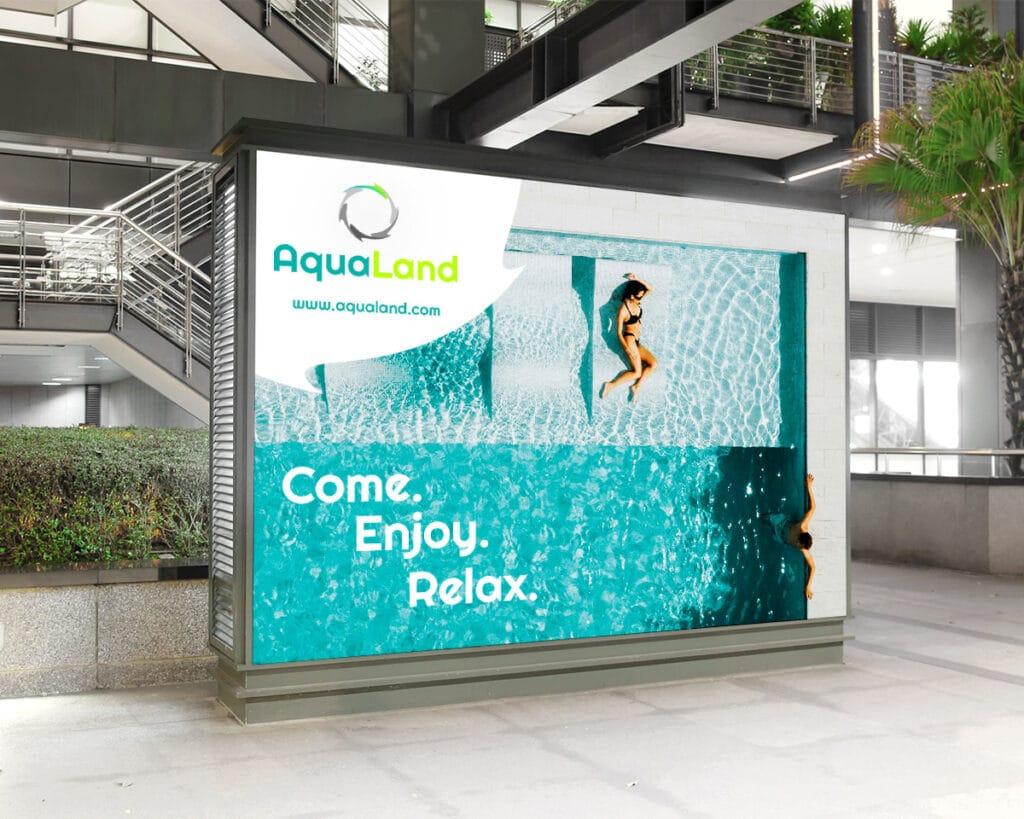 Billboard reklamowy parku wodnego