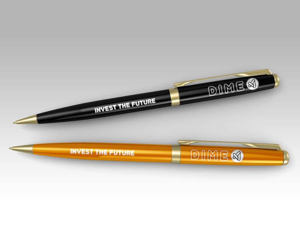 Logo firmowe na długopisie