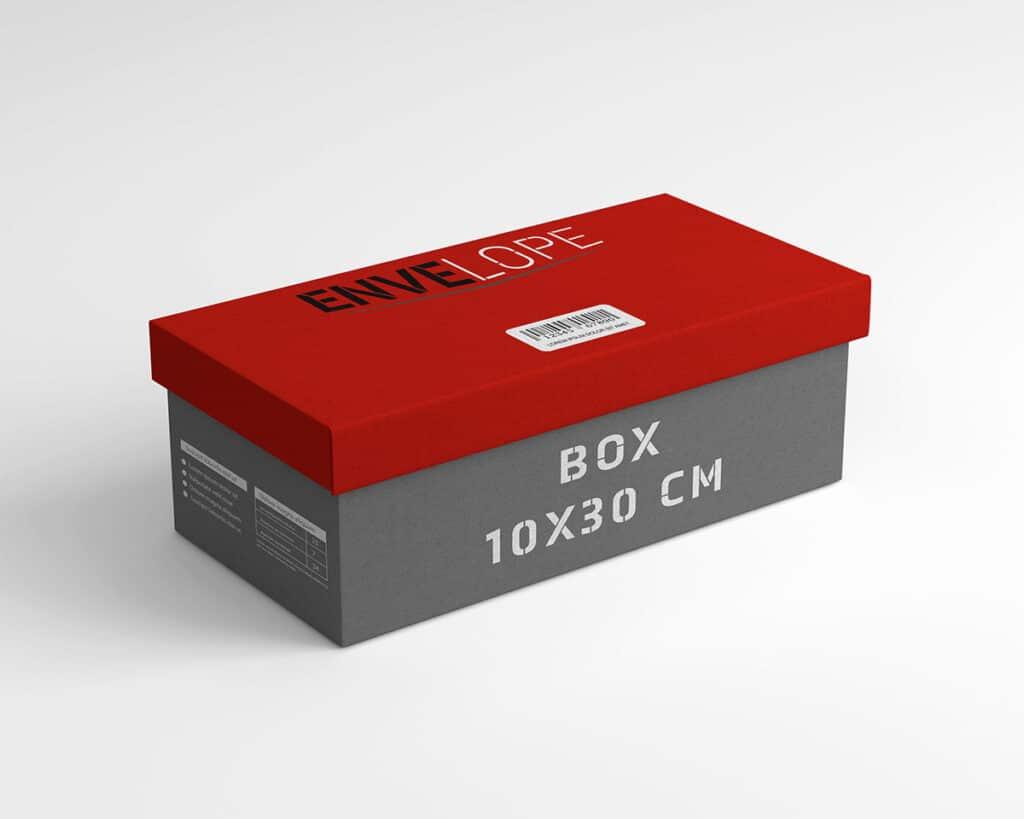 Pudełko firmy kurierskiej z logiem