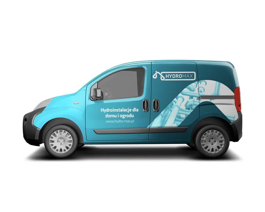 Oklejenie samochodu dla firmy hydraulicznej