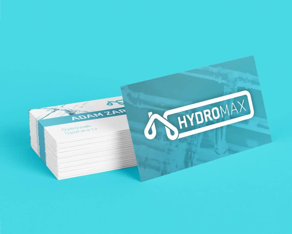 Wizytówka firmy hydraulicznej