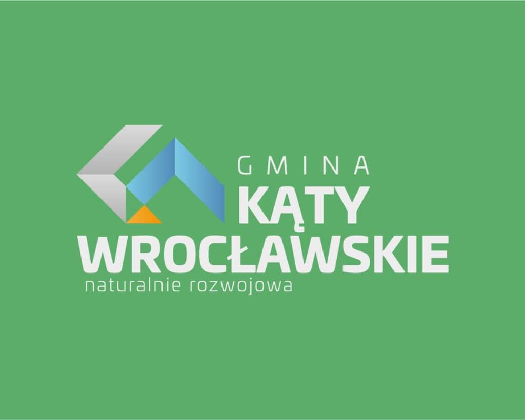 Logo gminy Kąty Wrocławskie wykonane w ramach konkursu