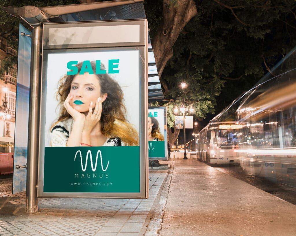 Billboard reklamowy marki odzieżowej