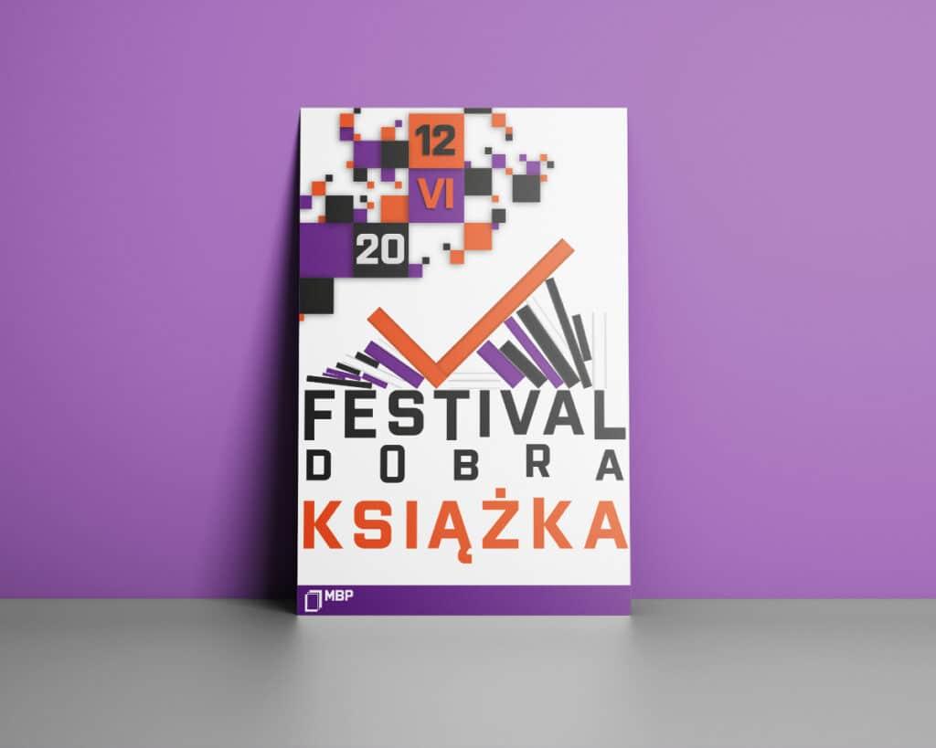 Plakat reklamujący festiwal dobrej książki