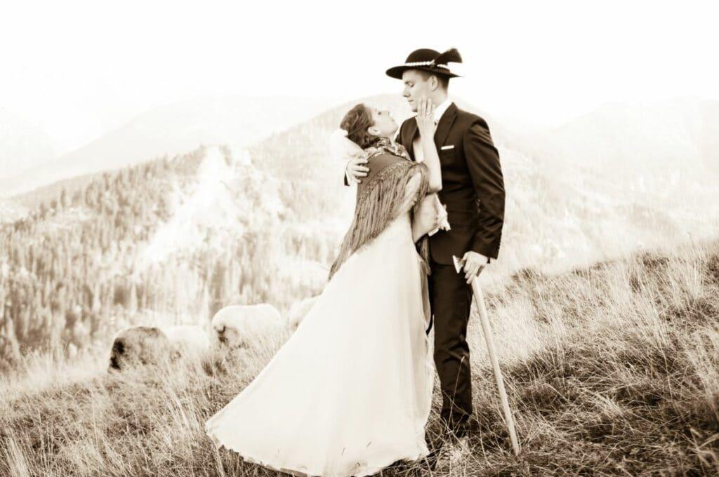 Górska sesja ślubna w Zakopanem