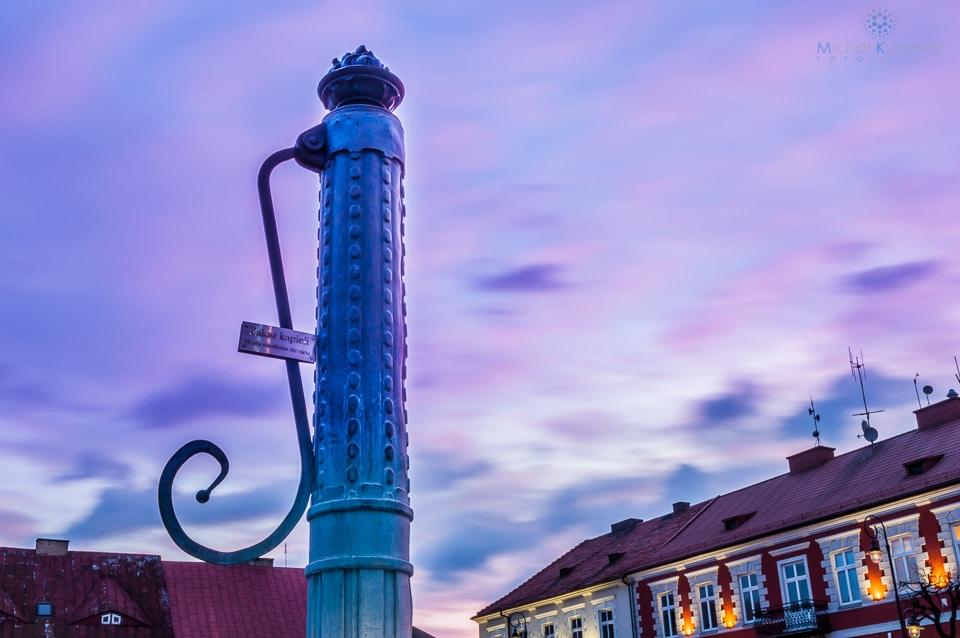 Stara fontanna na Rynku w Sieradzu