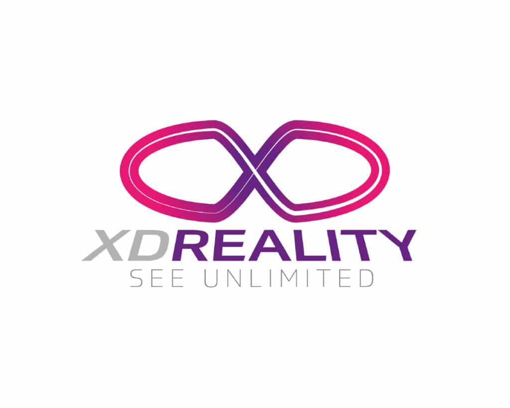 Nowoczesne logo firmy oferującej seanse w wirtualnej rzeczywistości