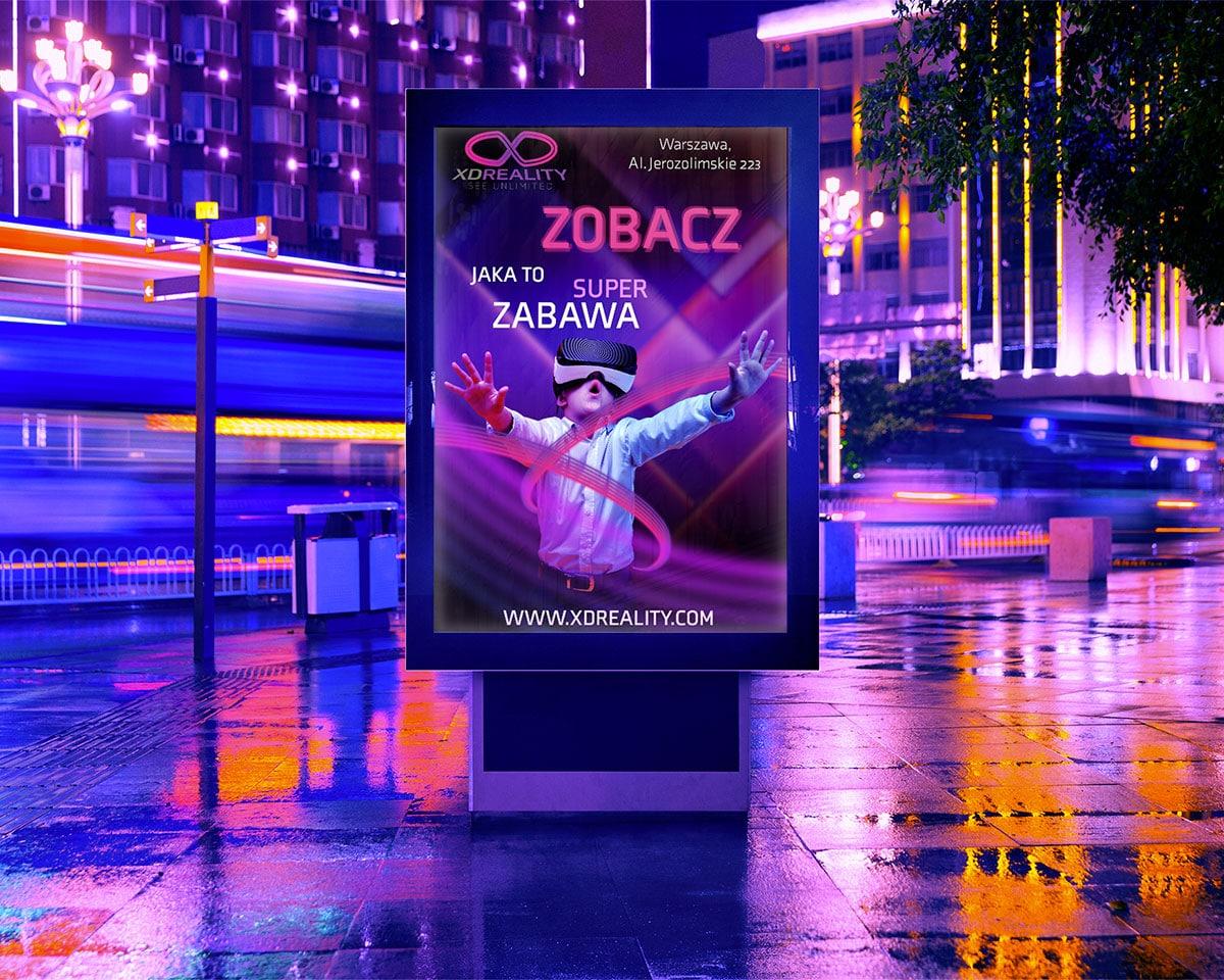 Podświetlona tablica reklamowa w mieście | Pic&Graph - Grafik Komputerowy Wrocław