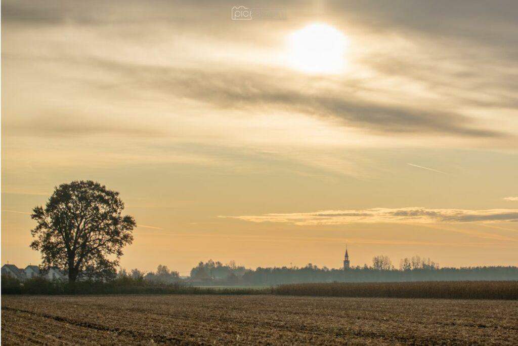 Wroclaw Fotografia Wieś Pole Zachód Słońca